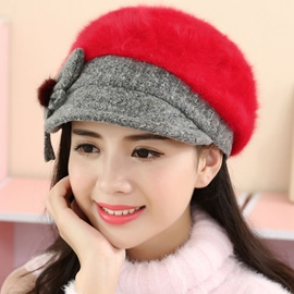 Ericdress Warm Bowknot Embellished Furry Hat