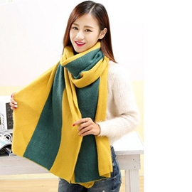 Ericdress Multicolor Warm Thick Wool Scarf