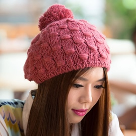 Ericdress All-Matched Plaid Design Knitted Hat
