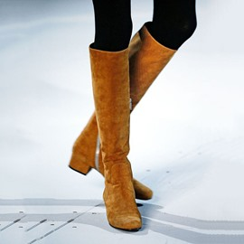 Ericdress Fashion Suede Side Zipper Knee High Boots