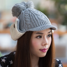 Ericdress Winter Warm Protective Ears Knitted Hat