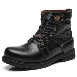 Ericdress British Vintage Lace up Men's Martin Boots