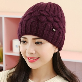 Ericdress Fish Scale Knitted Design Women's Hat