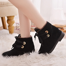 Ericdress Winter Lovely Lace up Ankle Boots