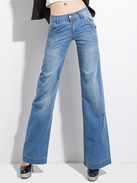 Ericdress Straight Loose Jeans