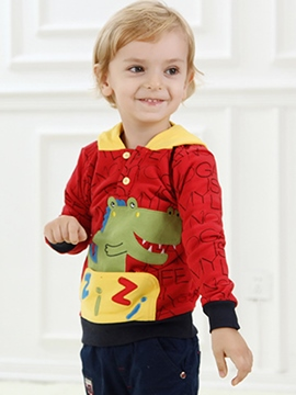 Ericdress Cute Crocodile Print Boys Hoodie