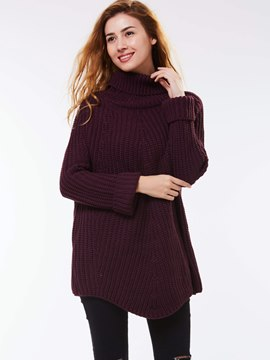 Ericdress Turtle Neck Plain Knitwear