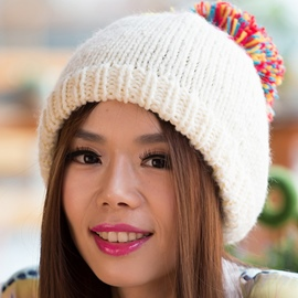 Ericdress Colorful Pompon Design Hand Knitted Hat