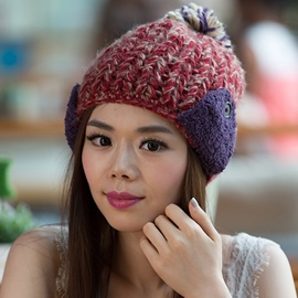 Ericdress All-Matched Color Block Outdoor Knitted Hat