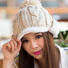 Ericdress Pompon Decorated Winter Warm Kintted Hat