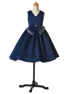 Ericdress Beautiful Bowknot Flower Girl Party Dress