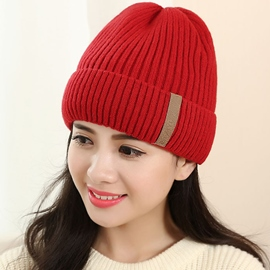 Ericdress Leisure Pure Color Women's Knitted Hat