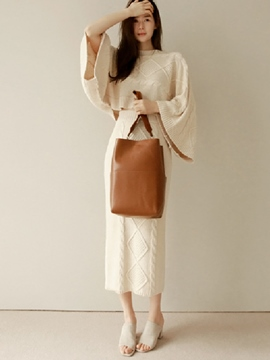 Ericdress Sweet Flare Sleeve Knitwear Leisure Suit