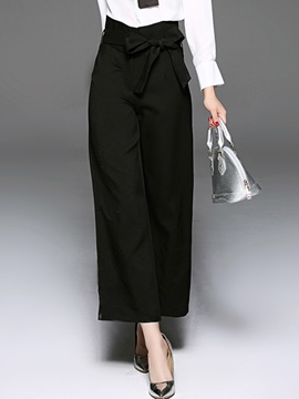 Ericdress Simple Lace-Up Pants