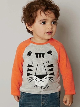 Ericdress Stripe Elephant Long Sleeve Boys T-Shirt