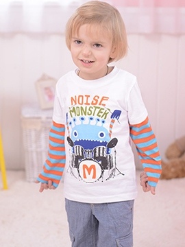 Ericdress Print Stripe Long Sleeve Boys T-Shirt
