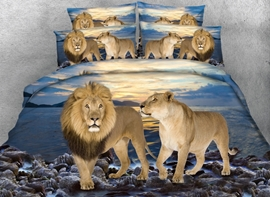 Ericdress Ocean Lion Print 3D Bedding Sets