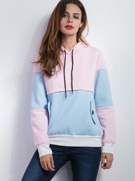 Ericdress Color Block Loose Casual Cool Hoodie
