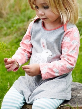 Ericdress Rabbit Print Baby Girls Dress