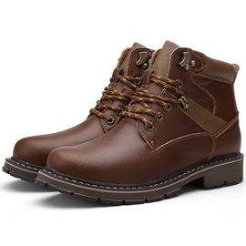Ericdress Stylish Round Toe Men's Martin Boots