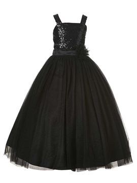Ericdress High Quality Straps Sequins Ball Gown Flower Girl Party Dress