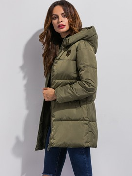 Ericdress Solid Color Loose Plus Size Coat