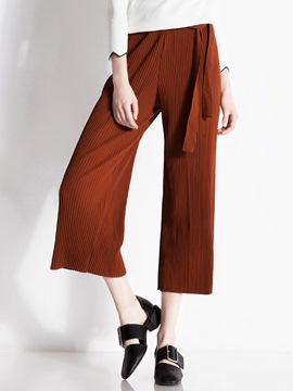 Ericdress Vintage Pleated Seven Points Pants