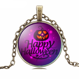 Ericdress Halloween Time Gemstone Pendant Necklace