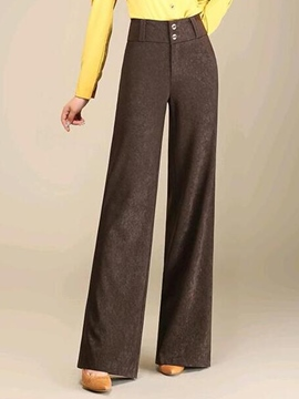 Ericdress Simple Button Pants