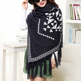 Ericdress Double Sided Thick Warm Cape