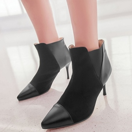 Ericdress Modern Patchwork Point Toe Ankle Boots