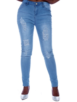 Ericdress Unique Solid Color Pencile Jeans