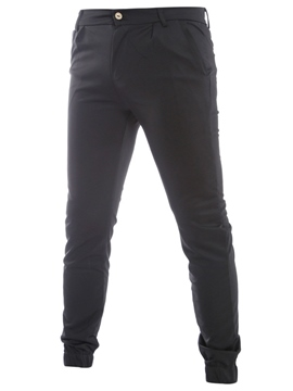 Ericdress Plain Simple Slim Pencil Men's Pants