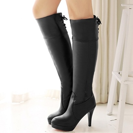 Ericdress Charming PU Platform Knee High Boots