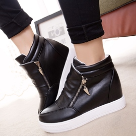Ericdress Simple Elevator Heel Ankle Boots