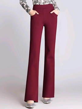 Ericdress Simple Flared Pants
