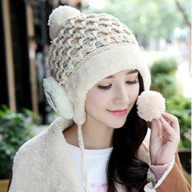 Ericdress Splendid Smiling Face Design Knitted Hat