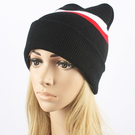 Ericdress Colorful Stripe Women's Knitted Hat