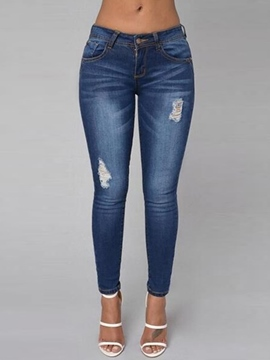 Ericdress Low-Waist Skinny Simple Jeans