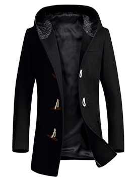 Ericdress Horn Hood Vogue Slim Men's Woolen Coat