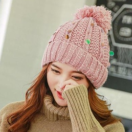 Ericdress Sequins Embellished Warm Knitted Hat