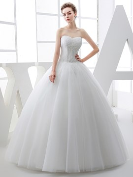 Ericdress Gorgeous Sweetheart Beaded Ball Gown Wedding Dress
