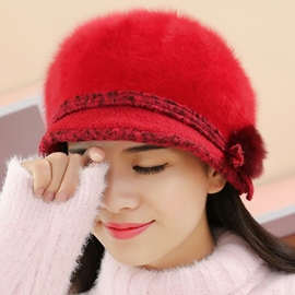 Ericdress Warm Soft Rabbit Hair Knitted Hat