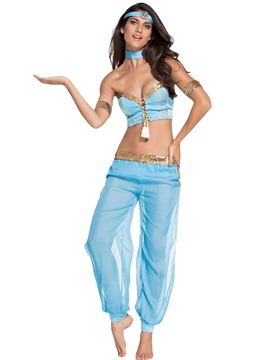 Ericdress Tassel Lace-Up Sexy Belly Dance Suit Halloween Costume