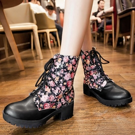 Ericdress Floral Patchwork Ankle Boots