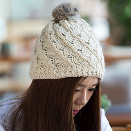 Ericdress Cute Multicolor Hollow Knitted Hat