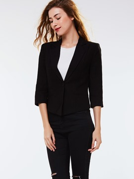 Ericdress Slim Black Polo Blazer