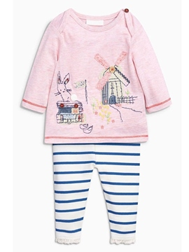 Ericdress Cartoon Print Cotton European Girls Outfit