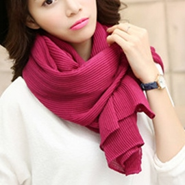 Ericdress Solid Color Pleated Linen Scarf