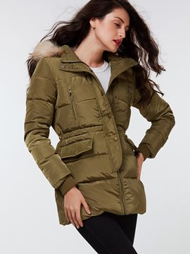 Ericdress Army Green Loose Cotton Coat